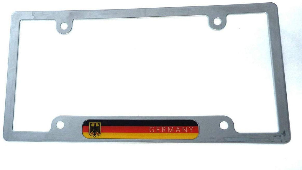 Germany German Deutschland Flag car License Plate Frame Chrome Plated abs CP08