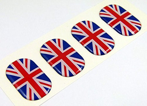 "Great Britain midi domed decals flag 4 emblems 1.5"" Car bike stickers"