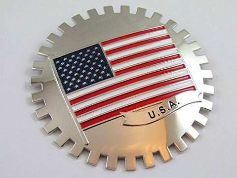 Grille Badge USA FLAG for car truck grill mount American flag