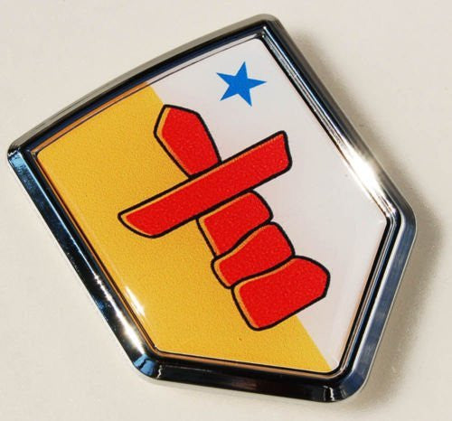 Nunavut Canada Flag Car Chrome Emblem Decal Sticker