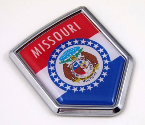 Missouri USA State Flag Car Chrome Emblem Decal Sticker bike laptop boat 3dd Sticker badge