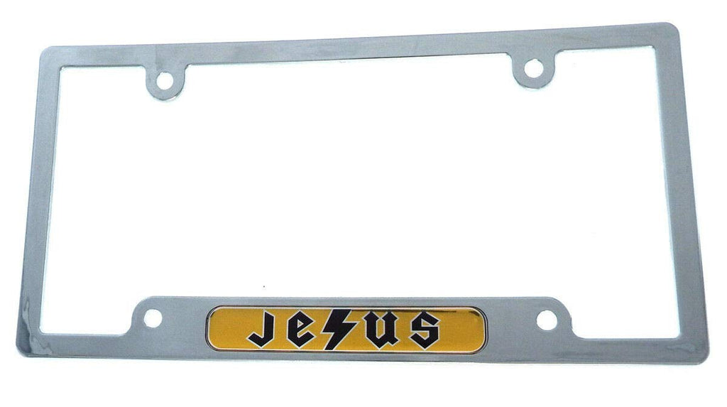 Jesus Flag car License Plate Frame Chrome Plated Plastic CP08