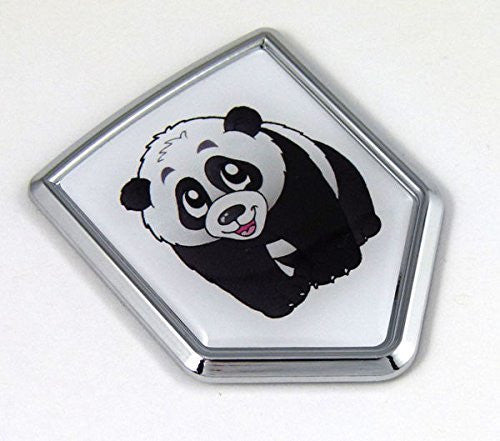 China Chinese PANDA Flag Car Chrome Emblem 3D Decal Bumper Sticker Badge Auto