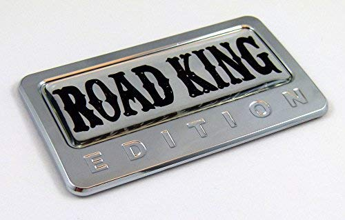 Road King Edition Chrome Emblem with Domed Decal Car Auto Bike Badge Motorcycle