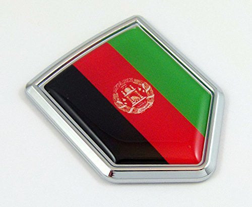 Afghanistan Afghan flag Decal Car Chrome Emblem Sticker badge crest