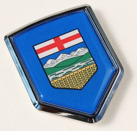 Alberta Canada Province Flag Car Chrome Emblem Decal 3D Sticker