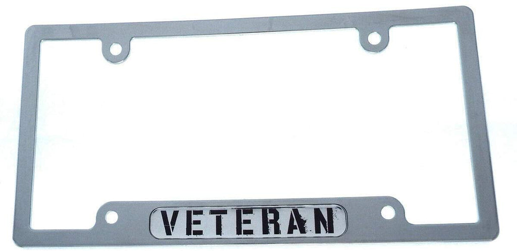 Veteran car License Plate Frame Chrome Plated Plastic tag Holder Cover CP08