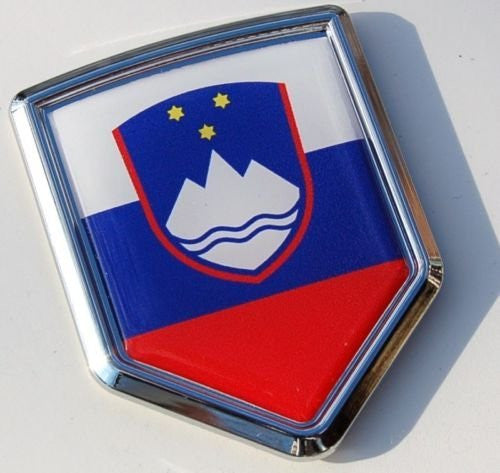 Slovenia Decal Slovenian Flag Car Chrome Emblem Sticker 3D badge car auto bike
