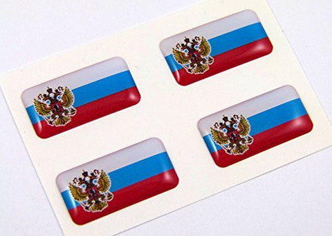 Russia mini domed decals set 4 emblems Russian Car bike boat... Stickers