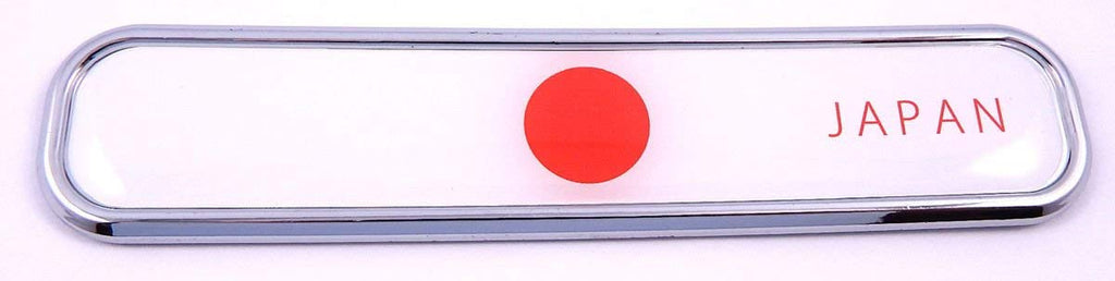 Japan Japanese Flag Chrome Emblem 3D auto Decal Sticker car Bike Boat 5.3""
