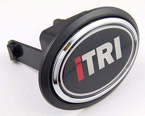 "ITRI I TRI Triathlon runner Flag Hitch Cover cap 2"" receiver black with chrome & dome"