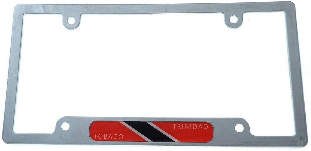 Trinidad and Tobago Flag car License Plate Frame Chrome Plated Plastic CP08