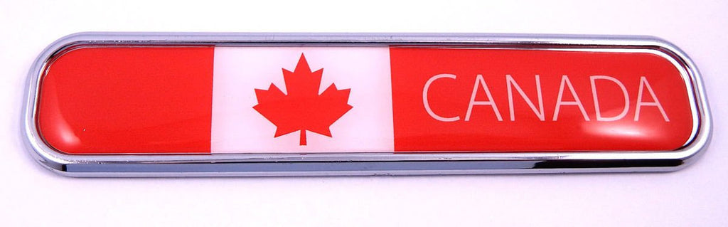 Canada Car Chrome Emblem 3D auto Decal Sticker for car Bike Boat 5.3""