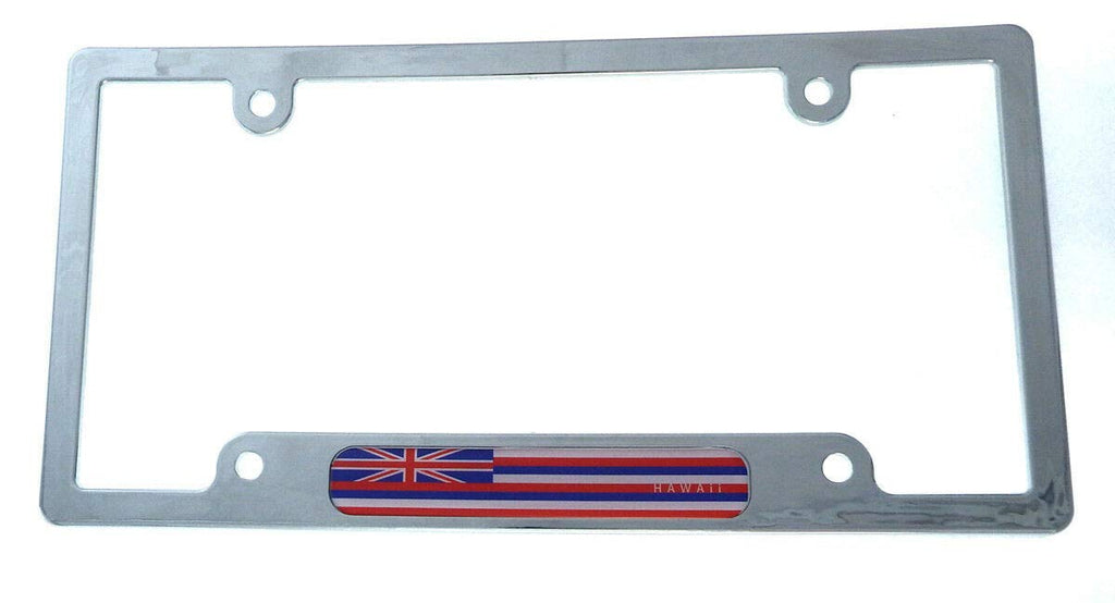 Hawaii Flag car License Plate Frame Chrome Plated Plastic tag Holder CP08