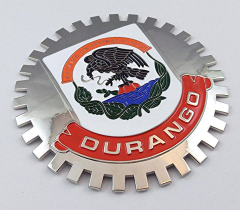 Durango Mexico Grille Badge for car Truck Grill Mount Mexican Flag