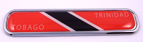 Trinidad and Tobago Flag Chrome Emblem 3D auto Decal Sticker car Bike Boat 5.3""