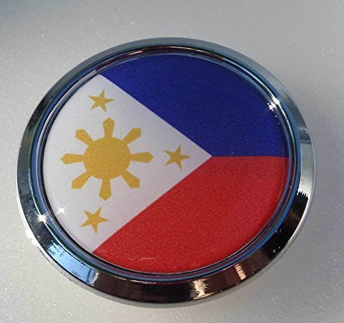 Philippine Decal Flag Car Chrome Emblem bike 3D Sticker