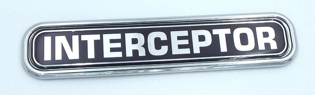 Interceptor Police Chrome Emblem 3D auto Decal car Bike Boat 5.3""