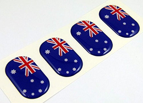 "Australia midi size domed decals flag 4 emblems 1.5"" Car bike boat stickers"