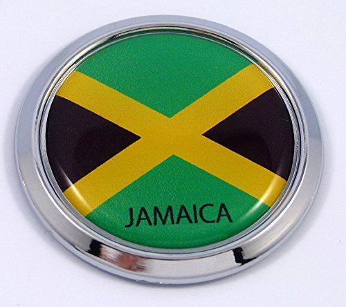 Jamaica Round Flag Car Chrome Decal Emblem bumper Sticker bezel badge