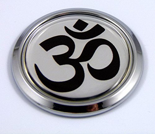 Aum Om Yoga Car Chrome Emblem Sticker Round decal 3D sticker