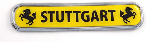 Stuttgart Car Chrome Emblem 3D auto Decal Sticker for car Bike Boat 5.3""