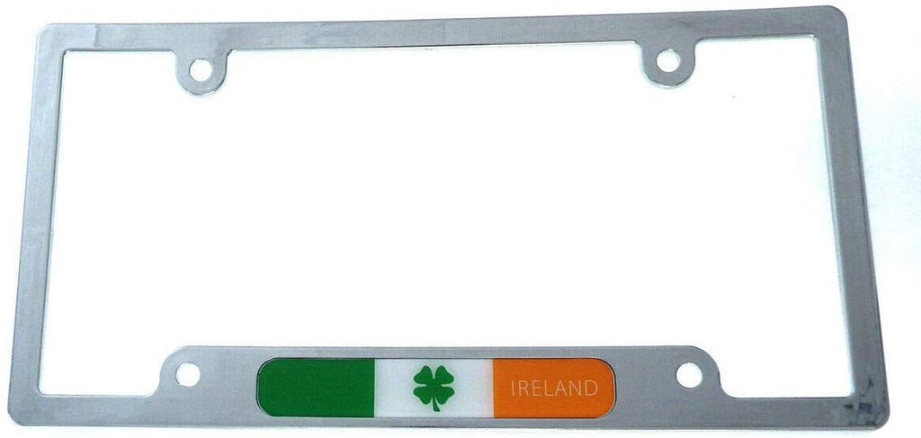 Ireland Irish Flag car License Plate Frame Chrome Plated Plastic tag Holder CP08