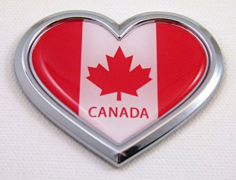Car Chrome Decals CBHRT037 Canada HEART Flag Chrome Emblem Car Decal 3D Sticker Badge Bumper Canadian
