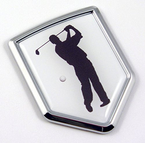Golf Golfer Chrome Emblem 3D Decal Sticker Car sport emblem