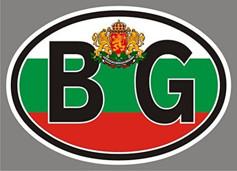 2 Bulgaria BG OVAL stickers flag decal bumper car emblem vinyl sticker CL010