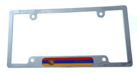 Armenia Flag License Plate Frame Plastic Chrome Plated tag Holder Cover CP08