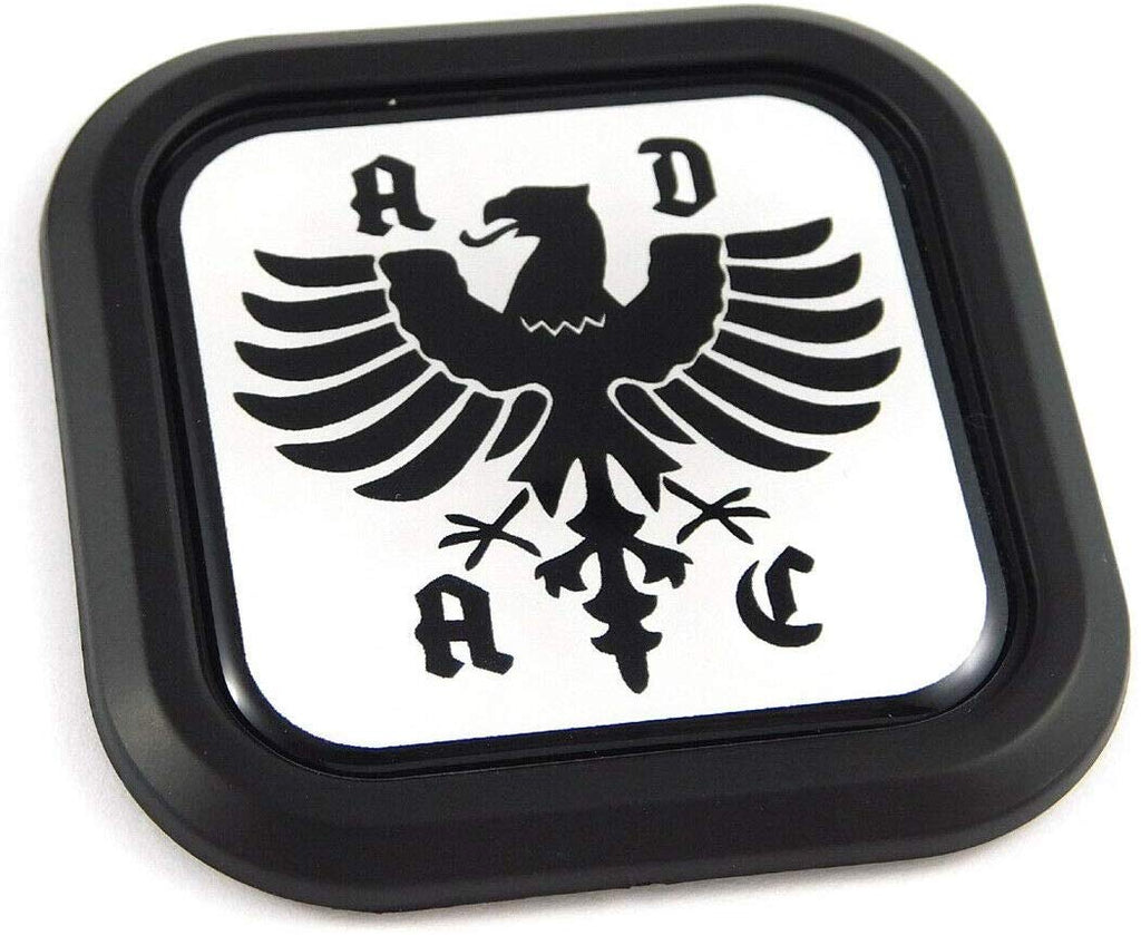 ADAC German Auto club Square Black rim Emblem Car 3D Decal Badge Bumper 2""