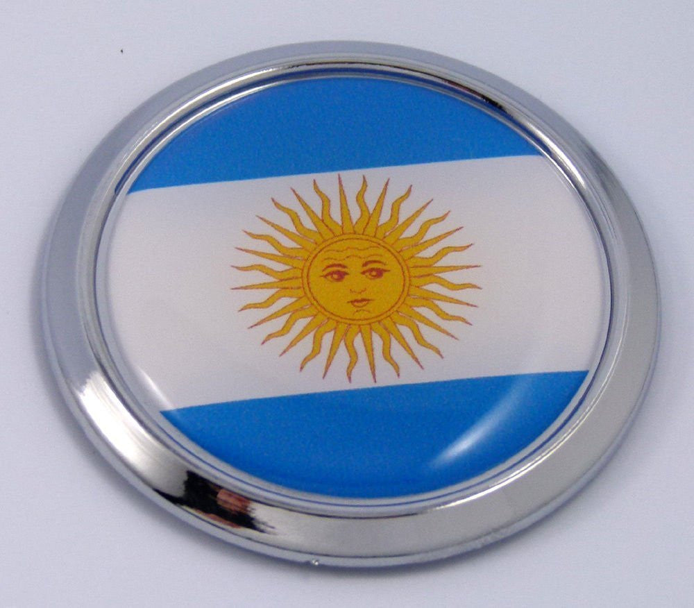 Argentina Round Flag Car Chrome Decal Emblem bumper Sticker bezel insignia badge