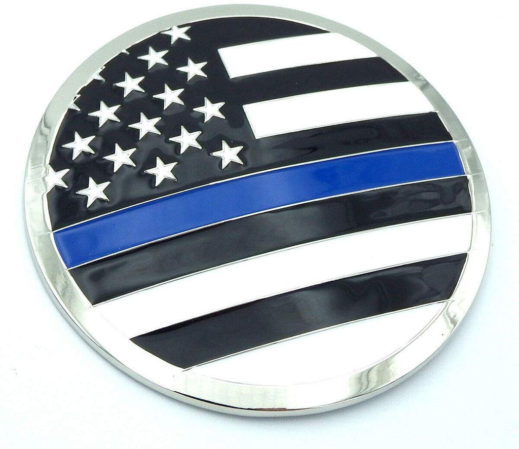 USA Police Thin blue line Grille emblem for car truck grill mount metal