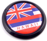 Hawaii Black Round Flag Car Decal Emblem Bumper 3D Sticker 1.85""