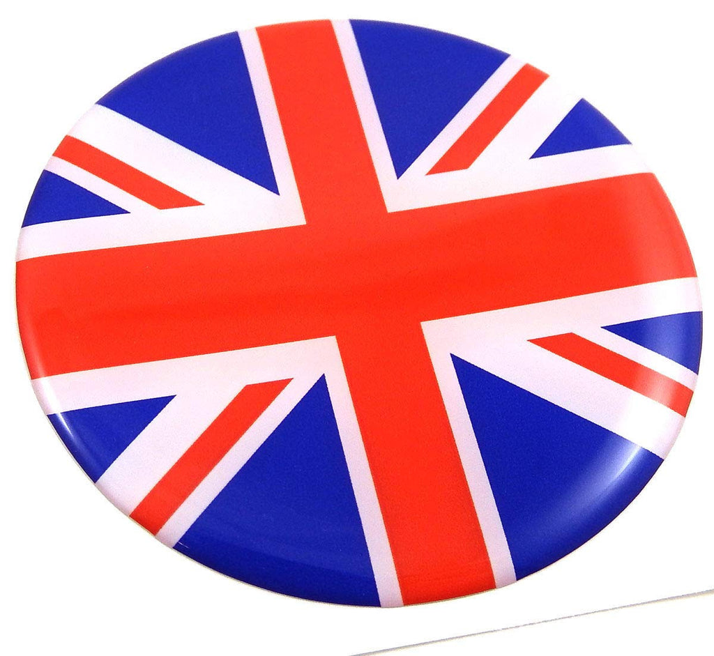 Great Britain British Flag Round Domed Decal Emblem Car Bike 2.44""