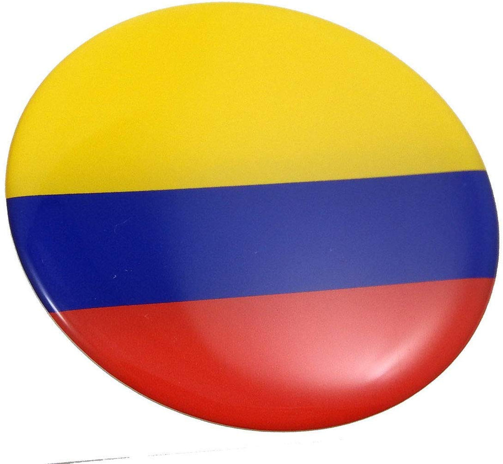 Colombia Flag Round Domed Decal Emblem Car Bike Sticker 2.44""