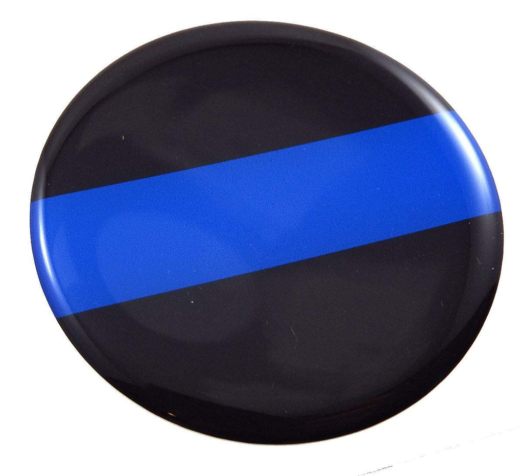 Thin Blue line Police Round Domed Decal Emblem Car Bike 3D Sticker 2.44""