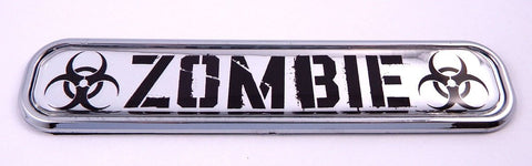 Zombie Flag Chrome Emblem 3D auto Decal Sticker car Bike Boat 5.3""