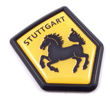 Stuttgart Flag Black Shield Emblem Car Bike Decal Crest 3D Sticker