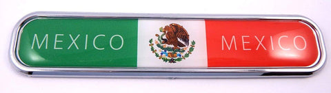 Mexico Flag Chrome Emblem 3D auto Decal Sticker car Bike Boat 5.3""