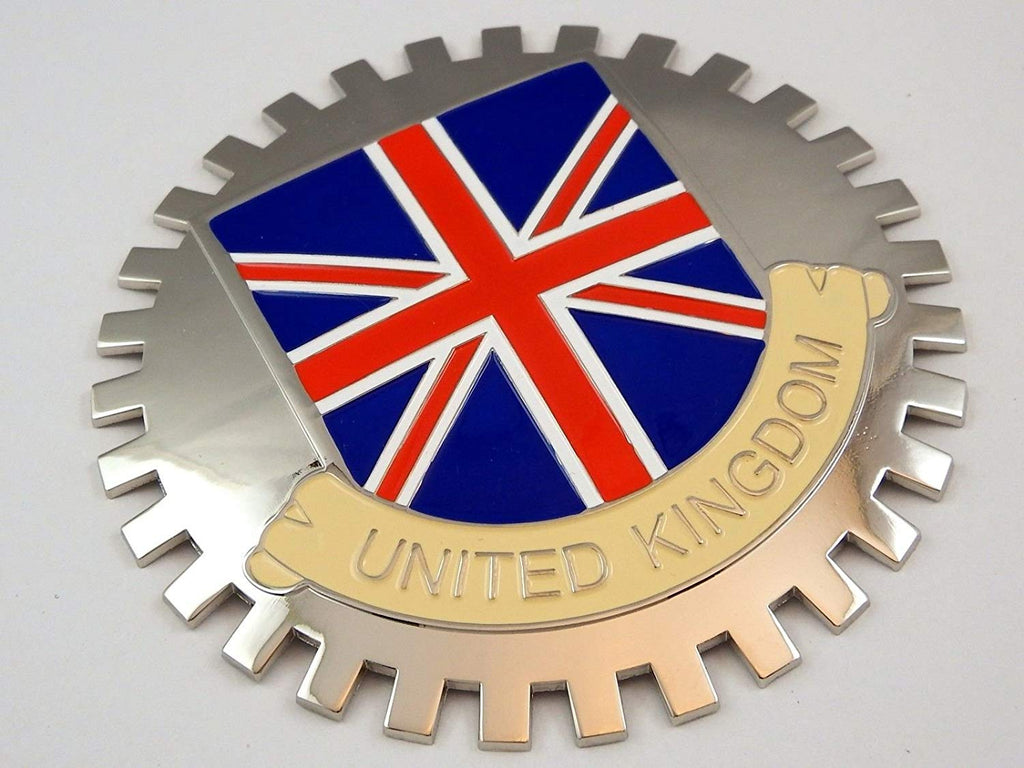 United Kingdom Grille Badge for car Truck Grill Mount British Flag