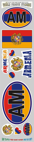 Armenia 10 Stickers Set Armenian Flag Decals Bumper stiker car auto Bike Laptop