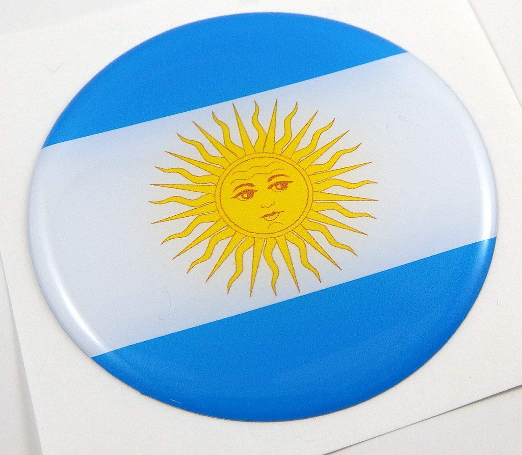 Argentina Flag Round Domed Decal Emblem Car Bike Sticker 2.44""
