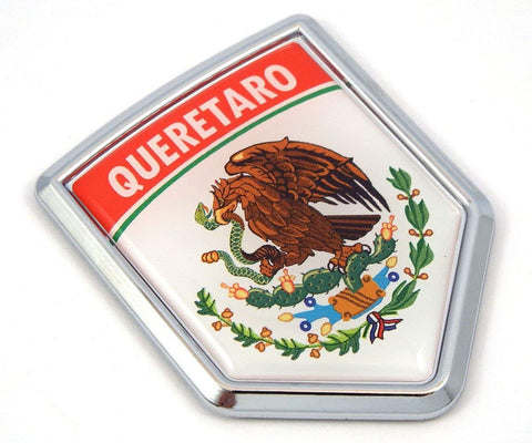 Queretaro Mexico Flag Mexican Car Emblem Chrome Bike Decal 3D Sticker MX7