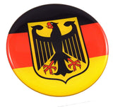 German Germany Deutschland Flag Round Domed Decal Emblem Car Bike 2.44""