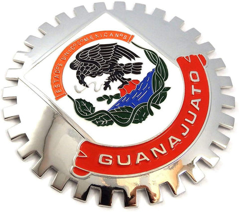 Guanajuato Mexico Grille Badge for car Truck Grill Mount Mexican Flag