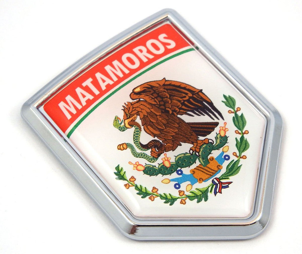 MX2 Matamoros Mexico Flag Mexican Car Emblem Chrome Bike Decal 3D Sticker