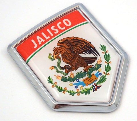 Jalisco Mexico Flag Mexican Car Emblem Chrome Bike Decal 3D Sticker MX22