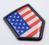 USA American Flag Black Shield Emblem Car Bike Decal Crest 3D Sticker